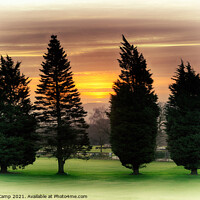 Buy canvas prints of Fairway Sunrise by Trevor Camp