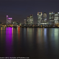 Buy canvas prints of Canary Wharf towers by stefano baldini