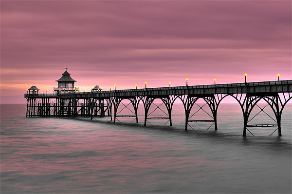 Clevedon Pier Canvas print by Catherine Joll