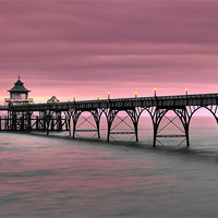 Buy canvas prints of Clevedon Pier by Catherine Joll