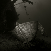 Buy canvas prints of  Cedar Pride Wreck by Aziz Saltik
