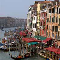 Buy canvas prints of The Grand Canal Venice by David  Worthington