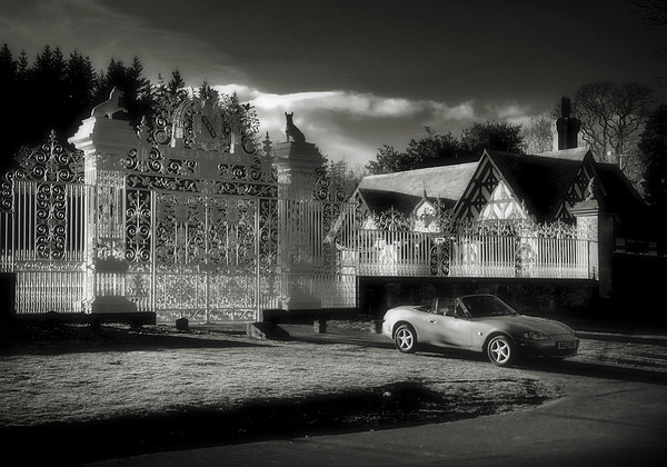 Mazda MX5 at Midnight Canvas Print by David  Worthington
