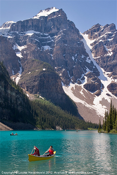 Moraine Lake, Banff Canvas print by Louise Heusinkveld Canvas Prints