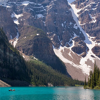 Buy canvas prints of Moraine Lake, Banff by Louise Heusinkveld Canvas Prints
