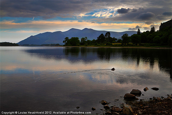Skiddaw and Derwentwater from Kettlewell Canvas print by Louise Heusinkveld Canvas Prints