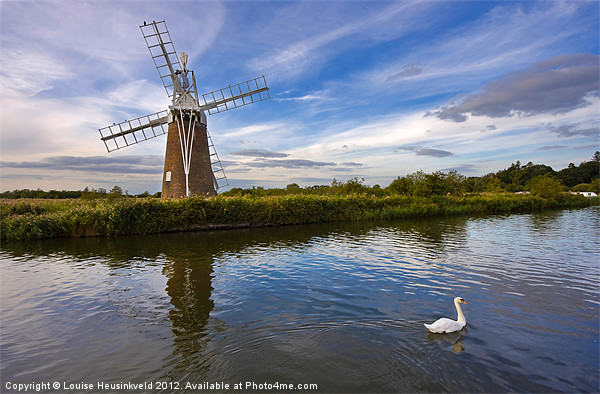 Turf Fen Drainage Mill Canvas print by Louise Heusinkveld Canvas Prints