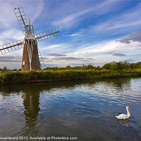 Buy canvas prints of Turf Fen Drainage Mill by Louise Heusinkveld Canvas Prints