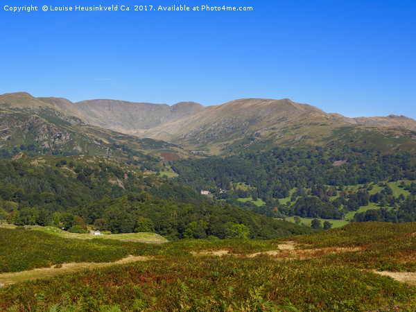 Fairfield Horseshoe from Loughrigg Fell, Lake Dist Acrylic by Louise Heusinkveld Ca