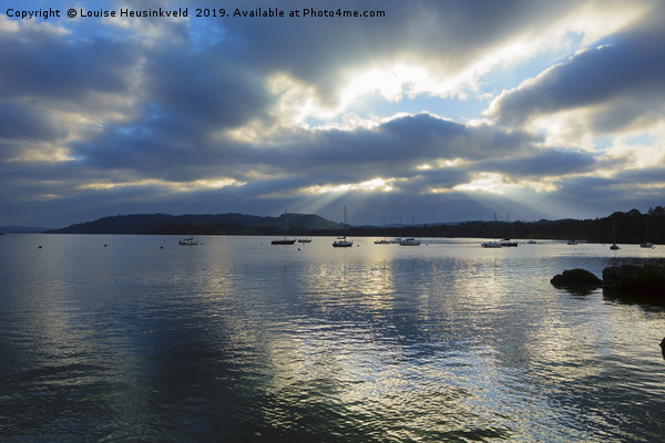 Evening on Windermere, Lake District, Cumbria Canvas print by Louise Heusinkveld