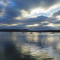 Buy canvas prints of Evening on Windermere, Lake District, Cumbria by Louise Heusinkveld