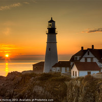 Buy canvas prints of Portland Head Light Sunrise II by Clarence Holmes