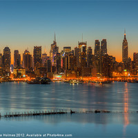 Buy canvas prints of New York Morning Twilight III by Clarence Holmes