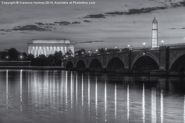 Washington Landmarks at Dawn II Canvas print by Clarence Holmes