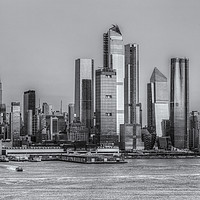 Buy canvas prints of NYC Hudson Yards Development at Sunset II by Clarence Holmes