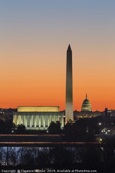 Washington DC Landmarks at Dawn III Canvas print by Clarence Holmes