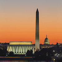 Buy canvas prints of Washington DC Landmarks at Dawn III by Clarence Holmes