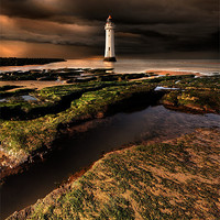 Buy canvas prints of New Brighton lighthouse by Robert Fielding