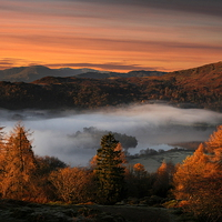 Buy canvas prints of Grasmere mists by Robert Fielding