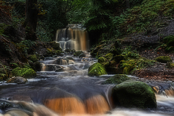 Rivington waterfall Canvas print by Robert Fielding