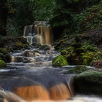 Buy canvas prints of Rivington waterfall by Robert Fielding