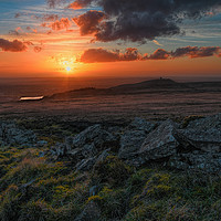 Buy canvas prints of Rivington pike sunset by Robert Fielding