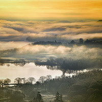 Buy canvas prints of lakeland mists by Robert Fielding