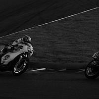 Buy canvas prints of Racing bikes at Snetterton racetrack  by John Boekee