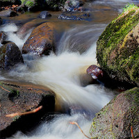 Buy canvas prints of Smooth Water at Padley Gorge by Angie Morton