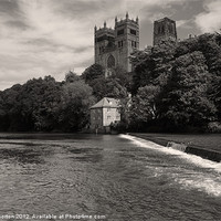 Buy canvas prints of Durham Cathedral and the Mill by Angie Morton