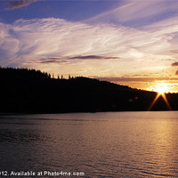 Buy canvas prints of Ladybower at Sunset by Angie Morton