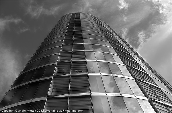 Velocity Tower Canvas print by Angie Morton