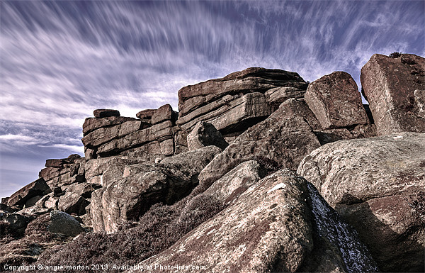 Stanage Edge View Canvas print by Angie Morton