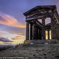Buy canvas prints of Penshaw Monument Sunset 2 by Angie Morton