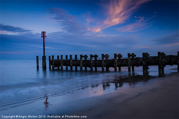 Bridlington Groyne North Bay Canvas print by Angie Morton