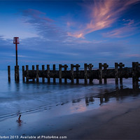 Buy canvas prints of Bridlington Groyne North Bay by Angie Morton