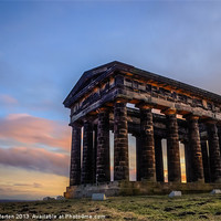 Buy canvas prints of Penshaw Monument Sunset 3 by Angie Morton