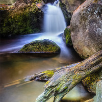 Buy canvas prints of Burbage Brook Reworked by Angie Morton