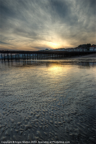 Beach Sunset Canvas print by Angie Morton
