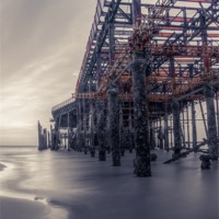 Buy canvas prints of Rusted Pier by Angie Morton