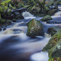 Buy canvas prints of Mystical Burbage Brook by Angie Morton
