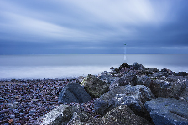 Minehead Breakwater Canvas print by Angie Morton