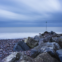 Buy canvas prints of Minehead Breakwater by Angie Morton