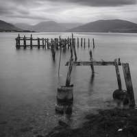 Buy canvas prints of Port Bannatyne Pier by Angie Morton