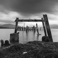 Buy canvas prints of Pier at Port Bannatyne by Angie Morton