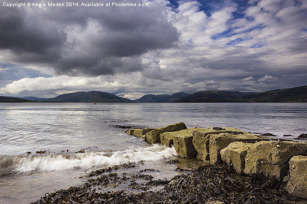Rothesay Bay Canvas Print by Angie Morton