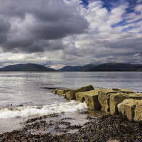 Buy canvas prints of Rothesay Bay by Angie Morton