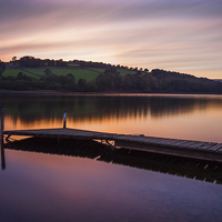 Buy canvas prints of Damflask Reservoir Sunset by Angie Morton