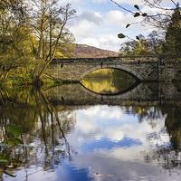 Buy canvas prints of New Bridge at Calver by Angie Morton