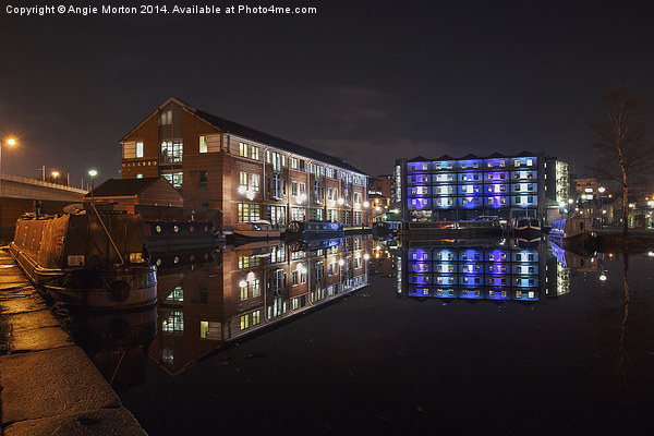 Sheffield Victoria Quays Canvas print by Angie Morton